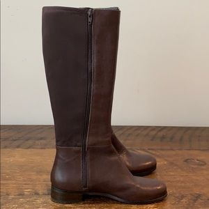 Nine West Selenao Brown Stretch Back Boots  Size 7